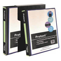 PROTEXT FIXED POCKET DISPLAY BOOK WITH INSERT COVER 60 POCKET + PROTEXT BOX A4 BLACK