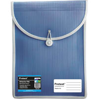 PROTEXT ATTACHE FILE CASE ELASTIC CLOSURE A4 BLUE
