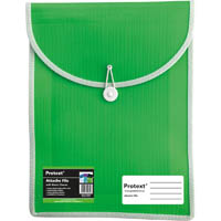PROTEXT ATTACHE FILE CASE ELASTIC CLOSURE A4 LIME GREEN