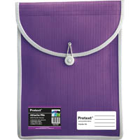 PROTEXT ATTACHE FILE CASE ELASTIC CLOSURE A4 PURPLE