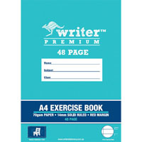 WRITER PREMIUM EXERCISE BOOK RULED 14MM 70GSM 48 PAGE A4 CHAIR