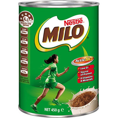 Image for NESTLE MILO 450GM TIN from Wetherill Park / Smithfield Office National