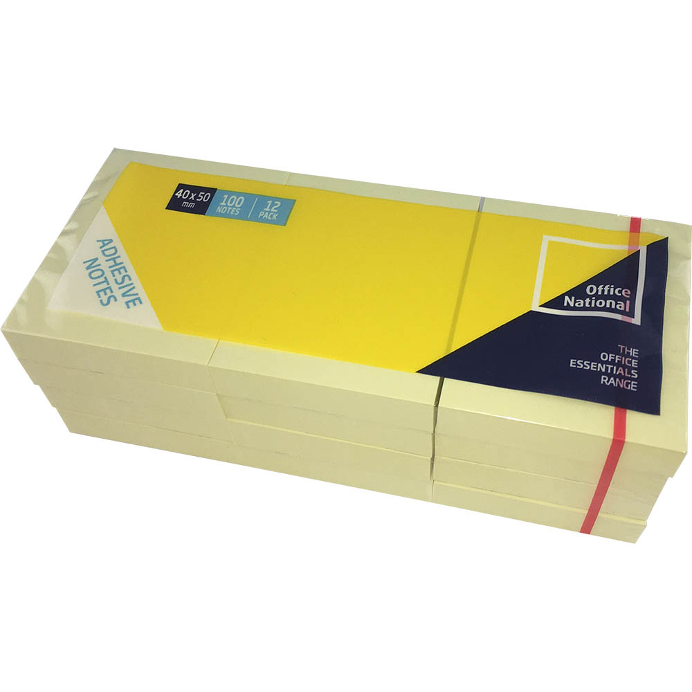 Image for OFFICE NATIONAL PREMIUM NOTES 40 X 50MM YELLOW PACK 12 from Office National Perth CBD