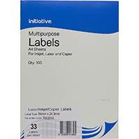 INITIATIVE MULTIPURPOSE LABELS 33UP 64 X 24.3MM PACK 100