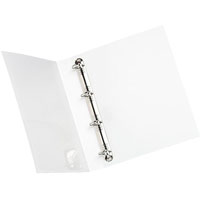 INITIATIVE INSERT RING BINDER 4D 38MM A4 WHITE