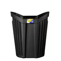OFFICE NATIONAL TIDY BIN 15 LITRE BLACK