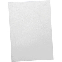 OFFICE NATIONAL BINDING COVER LEATHERGRAIN 350GSM A4 WHITE PACK 100
