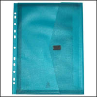 POP POLYWALLY BINDER WALLET HOOK AND LOOP CLOSURE 30MM GUSSET A4 BLUE