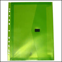 POP POLYWALLY BINDER WALLET HOOK AND LOOP CLOSURE 30MM GUSSET A4 LIME