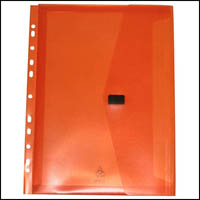 POP POLYWALLY BINDER WALLET HOOK AND LOOP CLOSURE 30MM GUSSET A4 ORANGE