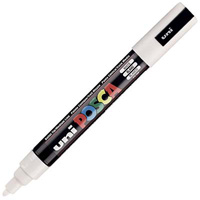 UNI PC-5M POSCA POSTER MARKER MEDIUM BULLET TIP 2.5MM WHITE