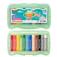 PENTEL ARTS OIL PASTELS HARD CASE ASSORTED COLOURS PACK 12