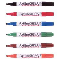 ARTLINE 509A WHITEBOARD MARKER 5MM CHISEL ASSORTED BOX 12