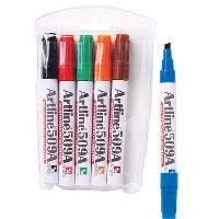 ARTLINE 509A WHITEBOARD MARKER 5MM CHISEL ASSORTED WALLET 6