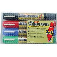 ARTLINE 525T WHITEBOARD MARKER DUAL NIB ASSORTED WALLET 4