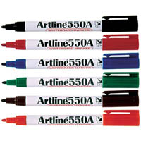 ARTLINE 550A WHITEBOARD MARKER 1.2MM BULLET ASSORTED PACK 12