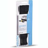 VELCRO BRAND ONE-WRAP REUSABLE TIES 25MM X 200M BLACK PACK 5