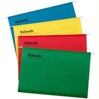 ESSELTE HANDY TAB SUSPENSION FILES FOOLSCAP ASSORTED PACK 10