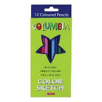 COLUMBIA COLORSKETCH HALF LENGTH PENCIL ASSORTED PACK 6