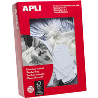 APLI STRUNG TICKETS 13 X 34MM WHITE BOX 1000
