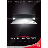GBC LAMINATING POUCH A3 GLOSS 80 MICRON PACK 100