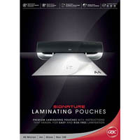 GBC LAMINATING POUCH A4 GLOSS 80 MICRON PACK 100