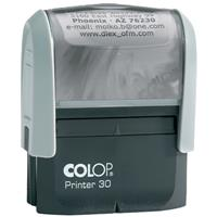 COLOP P30 PRINTER SELF-INKING CUSTOM MADE STAMP 47 X 18MM
