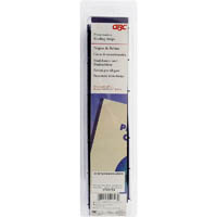 GBC VELOBIND STRIPS 4 PRONG BLUE PACK 25