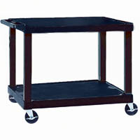 TUFFY VIDEO TROLLEY 2 SHELF 860MM