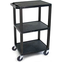 TUFFY VIDEO TROLLEY 3 SHELF 1220MM