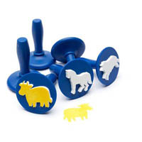 EDUCATIONAL COLOURS PAINT AND DOUGH STAMPERS ANIMALS SET