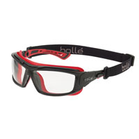 BOLLE SAFETY ULTIM8 SAFETY GLASSES CLEAR LENS WITH REMOVABLE STRAP/REMOVABLE ARMS