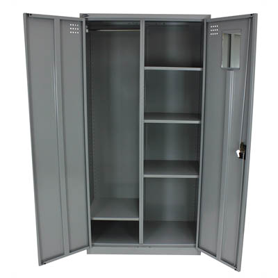 Image for STEELCO PERSONAL WARDROBE 1830 X 914 X 463MM SILVER GREY from Our Town & Country Office National