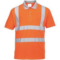 PORTWEST RT22 HI-VIS POLO SHIRT SHORT SLEEVE