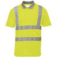 PORTWEST S477 HI-VIS POLO SHIRT SHORT SLEEVE