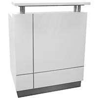 RECEPTIONIST COUNTER 880 X 690 X 1150MM WHITE