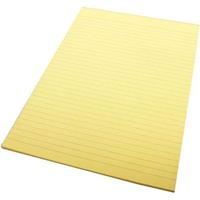 QUILL RULED PAD BOND 70GSM 50 LEAF A4 YELLOW