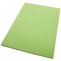 QUILL RULED PAD BOND 70GSM 50 LEAF A4 GREEN