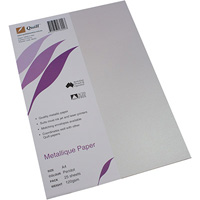 QUILL METALLIQUE PAPER 120GSM A4 PERIDOT PACK 25