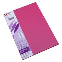 QUILL METALLIQUE BOARD 285GSM A4 PINK PACK 25