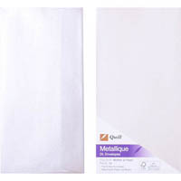 QUILL DL METALLIQUE ENVELOPES PEARL PACK 10