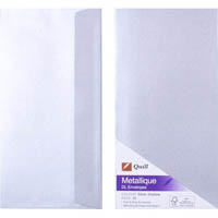 QUILL DL METALLIQUE ENVELOPES SILVER PACK 10