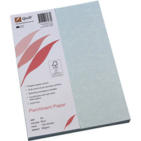 QUILL PARCHMENT PAPER 90GSM A4 BLUE PACK 100
