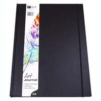 QUILL ART JOURNAL HARD COVER 125GSM 120 PAGES A3 BLACK