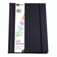 QUILL ART JOURNAL HARD COVER 125GSM 120 PAGES A5 BLACK
