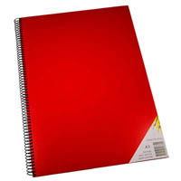 QUILL VISUAL ART DIARY 110GSM 120 PAGE A3 PP RED