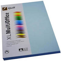 QUILL COLOURED COPY PAPER 80GSM A4 POWDER BLUE PACK 100 SHEETS