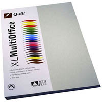 QUILL COLOURED COPY PAPER 80GSM A4 GREY PACK 100 SHEETS