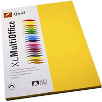 QUILL COLOURED COPY PAPER 80GSM A4 SUNSHINE PACK 100 SHEETS