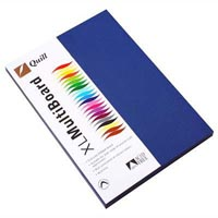 QUILL XL MULTIBOARD 210GSM A4 ROYAL BLUE PACK 50